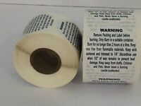 "500 Labels 1.5"" Round Generic CANDLE Warning Caution Container Jar Rolls"