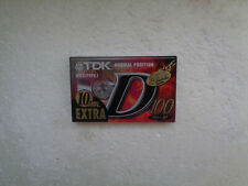 Vintage Audio Cassette TDK D 100 * Rare Countdown Series From 2000 *