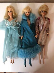 Vtg Barbie Hair Fair Bubble Cut TNT MOD Era Dolls Lot 3