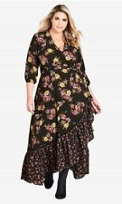 CITY CHIC XL 22 NWT RRP $139.95 MAXI WINTER BOUQUET DRESS