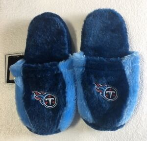 Tennessee Titans Fuzzy SLIDE SLIPPERS New - FREE U.S.A. SHIPPING