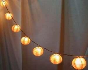 "4"" White Party Lights, Mini Paper Lantern String Lights"