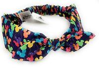 Disney Parks Mickey Balloons Bow Elastic Stretch Cloth Headband Headwrap - NEW