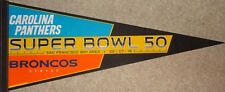 """Super Bowl 50 Panthers vs Broncos Dueling 30""""  Pennant"""