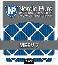 NORDIC PURE 18X25X1M7-6 MERV 7 PLEATED AC FURNACE AIR FILTER BOX OF 6