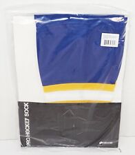 "Firstar 21"" Tyke Ice Hockey Stadium Socks Pro Design - Blue Yellow White New"