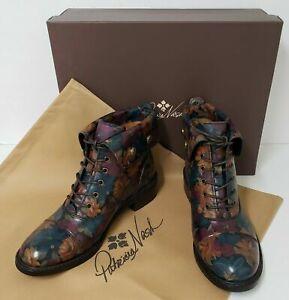 Patricia Nash Women's Leather Boots LIA Bootie Floral PERUVIAN PAINT BNIB-Z6