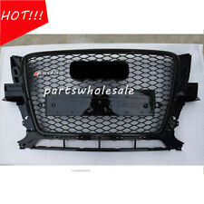 Front Mesh Grille Grill To RSQ5 Style For Audi Q5 SUV 2009-2012 Full Black