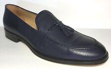 Allen Edmonds Perugia Italian Tassel Loafer Navy Blue Leather Slip On Mens Sz 11