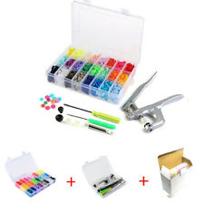 360 Sets Plastic Resin Buttons Snap Fastener Press Stud Plier Tool Kit DIY Craft