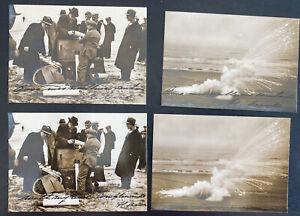 4 Original Photos 1934 First Dutch Netherlands Rocket Flight Loading Mail Lot