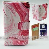 For OPPO Series - Pink Swirl Theme Print Wallet Mobile Phone Case Cover