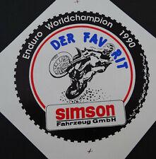 Aufkleber SIMSON Fahrzeug GmbH Enduro-WM 1990 S51 Thomas Bieberbach Sticker