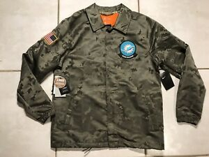 NWT NIKE Miami Dolphins SALUTE TO SERVICE  NFL Camouflage Jacket Men's Large