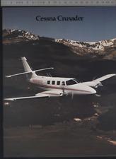 (192) Catalogue brochure aviation Aircraft Cessna Crusader