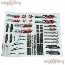 SWorkz Body Decal Sticker Sheet #SW-510026 (RC-WillPower) 1:8 1/8 Racing Buggy