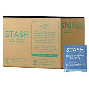Stash Tea Earl Grey Black Tea, 100 Count Box of Tea Bags in Foil packaging may