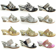 Synthetic Leather Sandals Argyle, Diamond Heels for Women