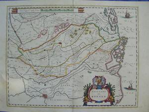 MAPPA TERRITORIO ROVIGO 1640 VENETO VENEZIA FERRARA PADOVA CHIOGGIA POLESINE