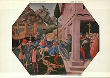 PLEASE READ !!! The Rape of Helen, Gozzoli - Continental Art Postcard