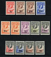 BECHUANALAND PROTECTORATE 1961 QE II SET VERY FINE LMM OR MNH SG157-167b