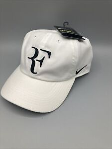 Nike RF Hat NWT Aerobill H86 Cap Roger Federer Tennis Dri Fit AH6985 -100 WHITE
