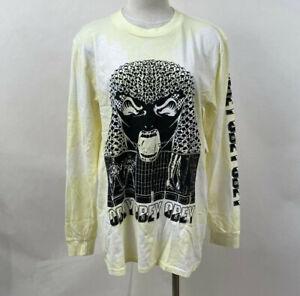Obey Women's LS Box T-Shirt Permapocalypse Lemon Yellow Tie Dye Size S NWT