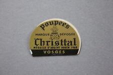 LY Ancien autocollant Poupées Christal Médailles d'argent Rouen 1968 Vosges