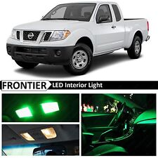 7x Green Interior LED Lights Package for 2005-2016 Frontier Truck
