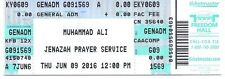 Muhammad Ali  Jenazah Prayer Service ticket June  9 2016