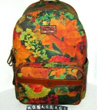 Patricia Nash Patina Collection Coated Canvas Genoa Backpack Winter Floral Nwt