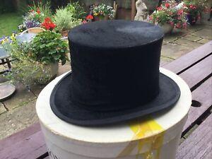 Dunn & Co Black Silk Top Hat Vintage