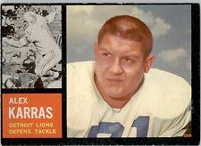 1962 Topps 58 Alex Karras EX #D314093