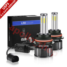 6-Sides 9007 Cree Led Headlight Kit 2400W 360000Lm Hi-Lo Beam Bulbs 6000K White