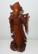 DEALER-RITA  Antique  esculture  chinese wood  carved guindo eyes glas