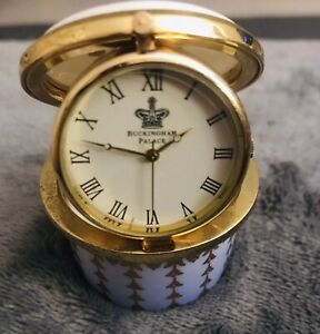 English Fine Bone China Diamond Jubilee Minature Clock Collectible Souvenir