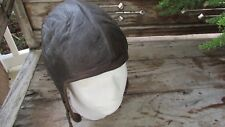 vtg Buco leather motorcycle helmet aviation military 1940's 50's made Detroit s
