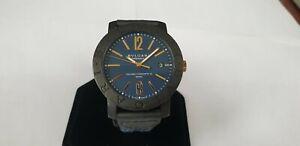 BVLGARI Carbon Gold Automatic Watch BB40CL 750 YG Blue Dial
