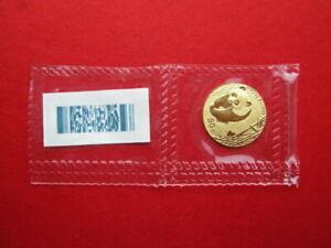 China 2002, 50 Yuan WWF Panda 1/10 oz 999er Gold, VOP/OMP, MIRRORED BAMBOO 09001