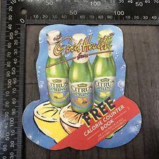 AUTHENTIC VINTAGE CARDBOARD BEER MAT COASTER BRITVIC CITRUS SPRING STINGER CARD