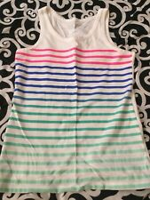 Girls Striped Tank Top - Sequins - Size M/M (7/8) - Cherokee - NEW