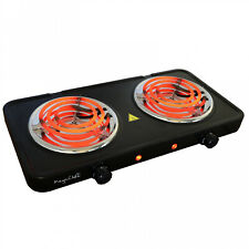 Electric Cooktop Burner Dual Coil Burners 1700W Hot Plate Portable Cooking Stove