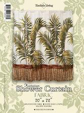 Palm Hawaiian Quilt Print Hawaii Bathroom Fabric Shower Curtain