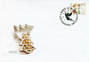 Slovenia Christmas Stamps 2020 FDC Biscuits Gingerbread Value C 1v S/A Set