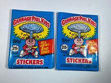 1985 Garbage Pail Kids 2nd Series Rare New Sealed 2 Unopened Wax Pack Retro 80's