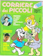 CORRIERE DEI PICCOLI 1989 NR.16 INSERTO -POSTER TOM CRUISE - I TRE MOSCHETTIERI