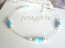 A12 Swarovski Crystals Bridal Anklet ~ Something Blue