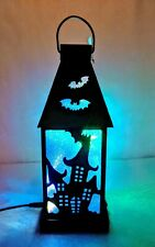 Haunted House Halloween B/O Color Changing Lighted Lantern 11 inch