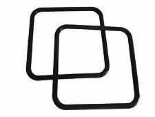 "Pair of 8"" Black Square Plastic Marbella Macrame Craft Handbag Purse Handles"