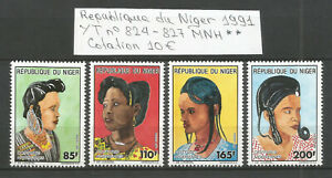 Niger 1991 - n° YT 824-827 - Coiffures Nigériennes - Neufs MNH ★★  Cotation 10€